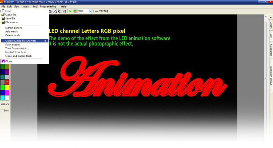 Software details - Professional Neon Animation Editing